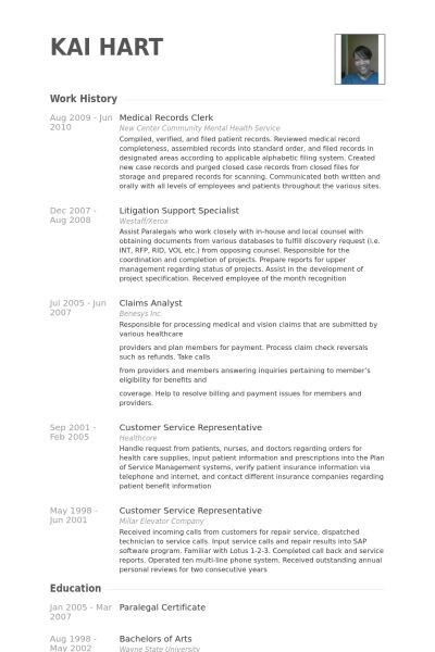 Medical Clerk Sample Resume 22 Resume Templates Him Clerk ...