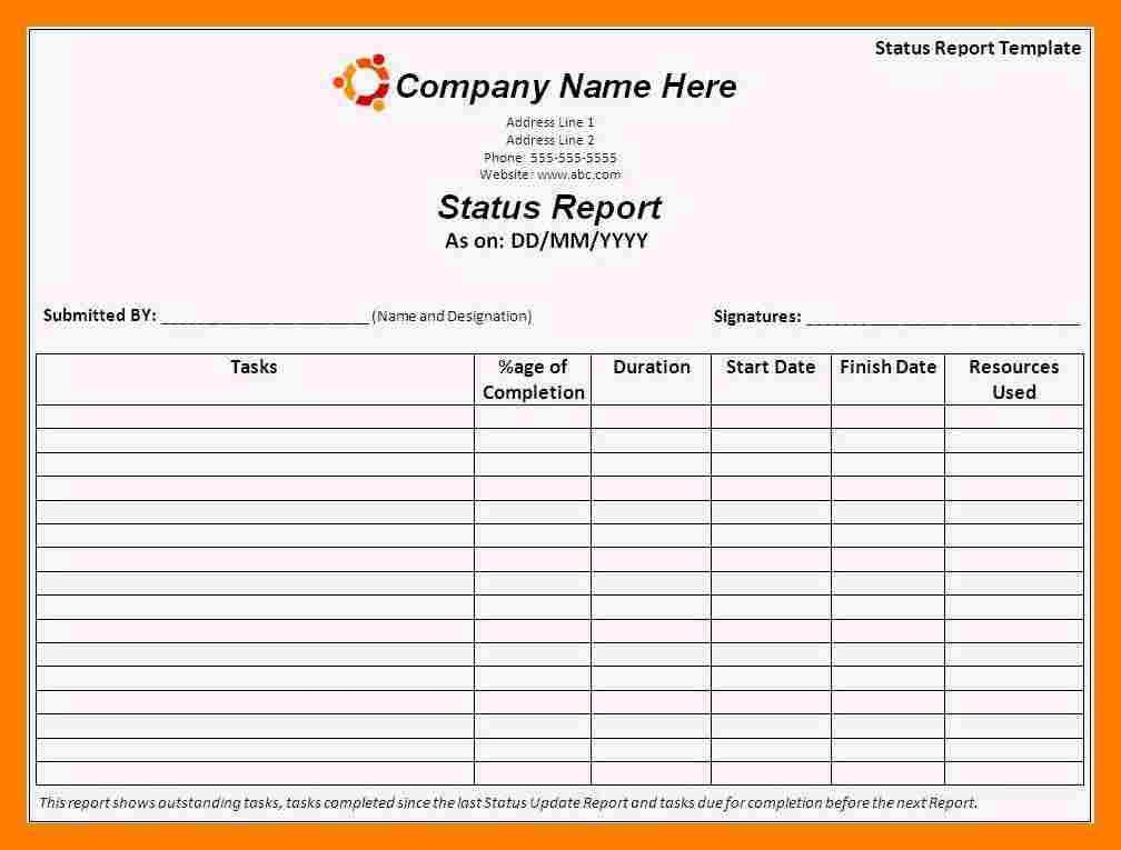 7+ daily status report template | teller resume
