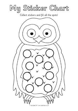 Printable Primary School Sticker Charts - SparkleBox