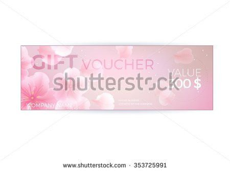 Vector Gift Voucher Template Lotus Lily Stock Vector 353725991 ...