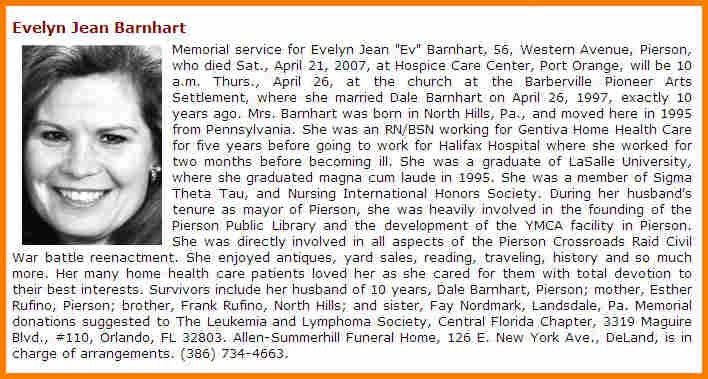 9+ examples of obituaries | resume reference