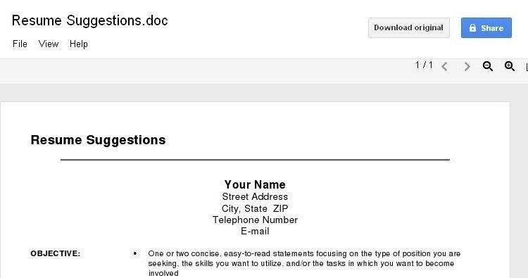 google docs edit online download microsoft office word doc. resume ...