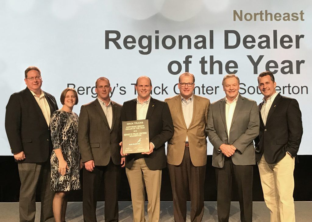Mack Trucks, Inc. 2016 NE Regional Dealer of the Year - Bergeys ...