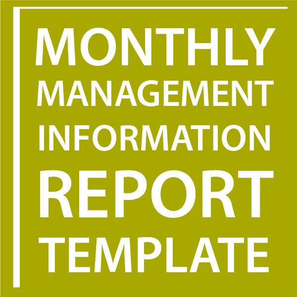Monthly Management Information Report Template - Sell Your Business