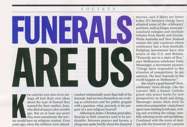 Template for Funeral Articles