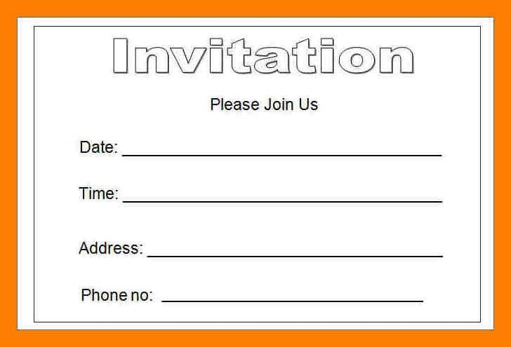 5+ blank invitation templates for microsoft word | joblettered