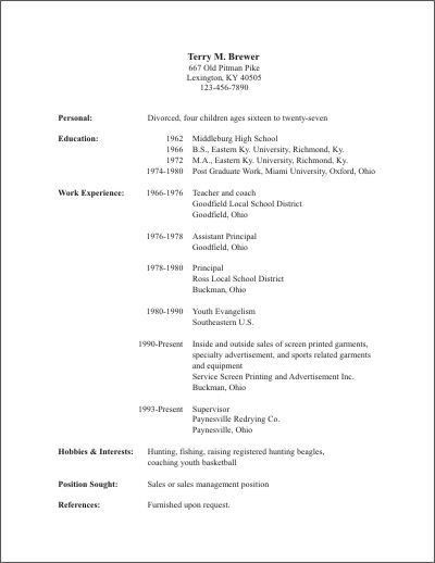 What Is Resume. Proper Format Of Resume 89 Fascinating Work Resume ...