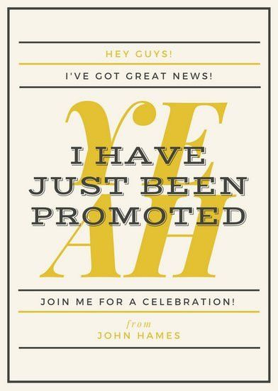Yellow Bordered Promotion Announcement (Free) - Templates by Canva