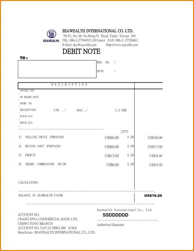 debit note Receipt Templates : Selimtd
