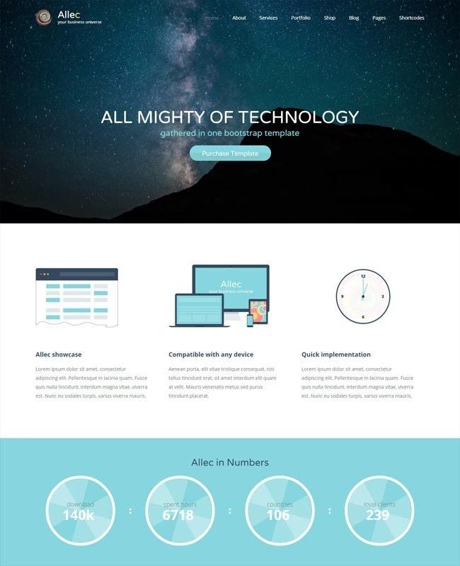 50+ Awesome Technology Website Templates