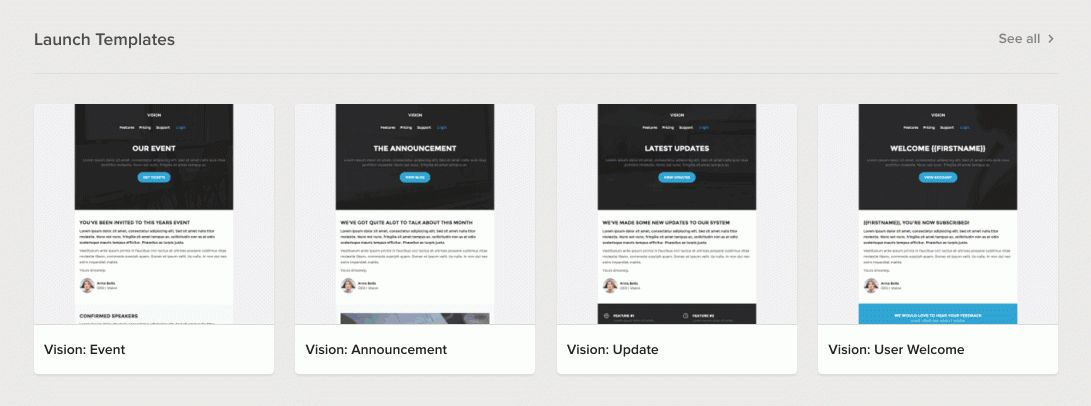 Free email templates - MailCharts