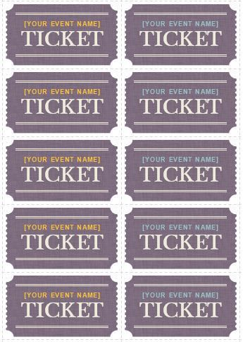 Generic Event Ticket Templates | Formal Word Templates
