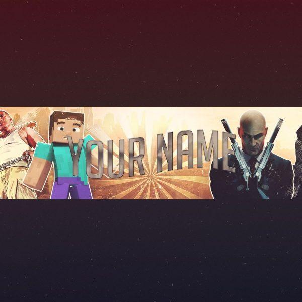 Free Gaming Youtube Banner Template! – Photoshop – Psd – #3 ...