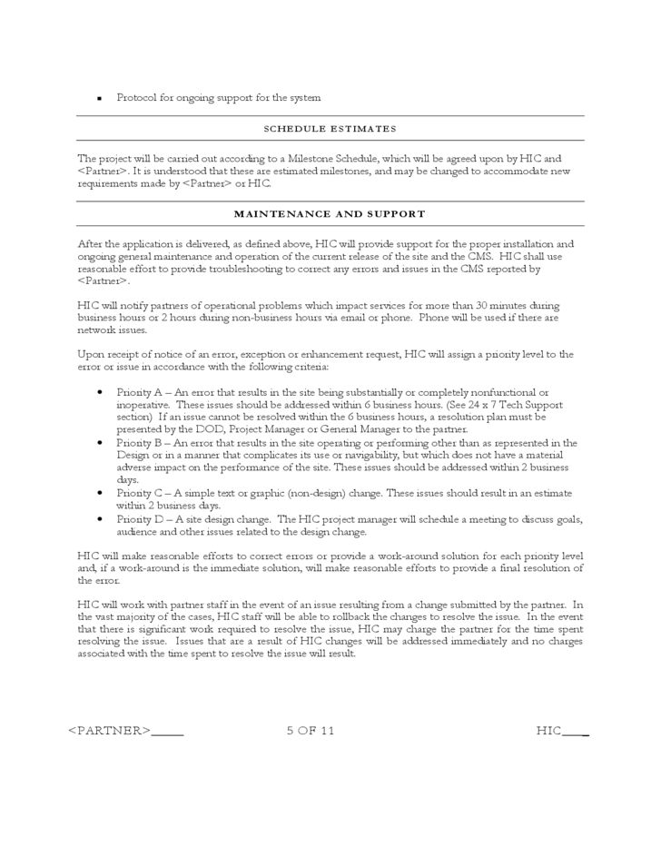 Statement of Work Template - Hawaii Free Download