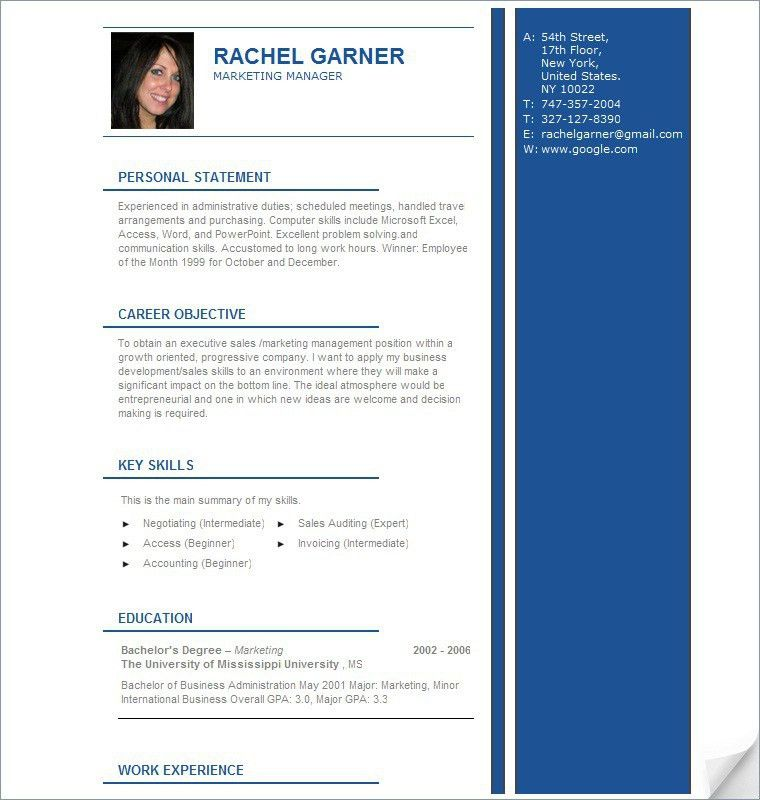 Professional Cv Resume Samples Get A Job With Professional Resume ...