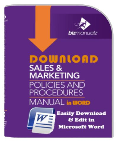 Sales Marketing Policies and Procedures Manual | Sales Policy Manual