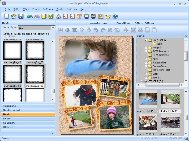 Collage Maker digital scrapbook Software