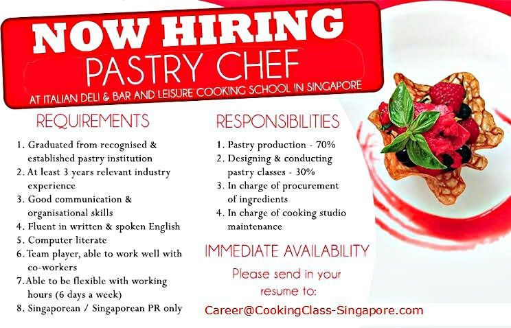 Pastry Chef Vacancies | Pastry Chef Jobs | Immediate Availability
