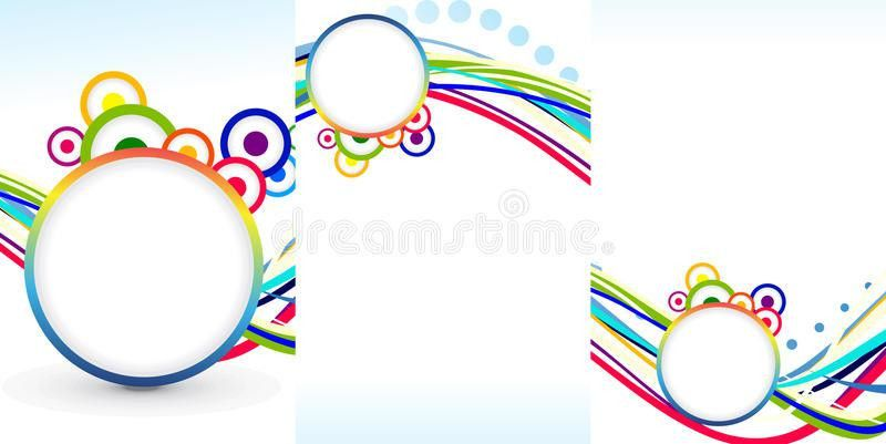 Abstract Tri Fold Brochure Template Stock Image - Image: 35044461