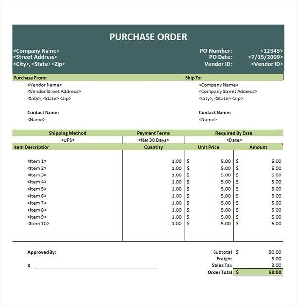 6 Free Purchase Order Templates - Excel PDF Formats