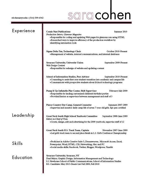 Resume | Graphics 217-A