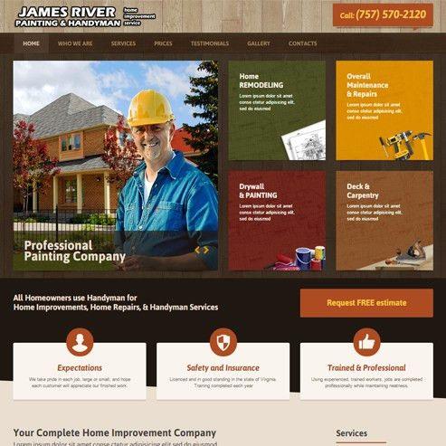 Contractors Website Templates Builders Websites Design Company ...