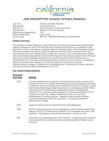 Public Relations Job Description. Marketing Coordinator Intern Job ...