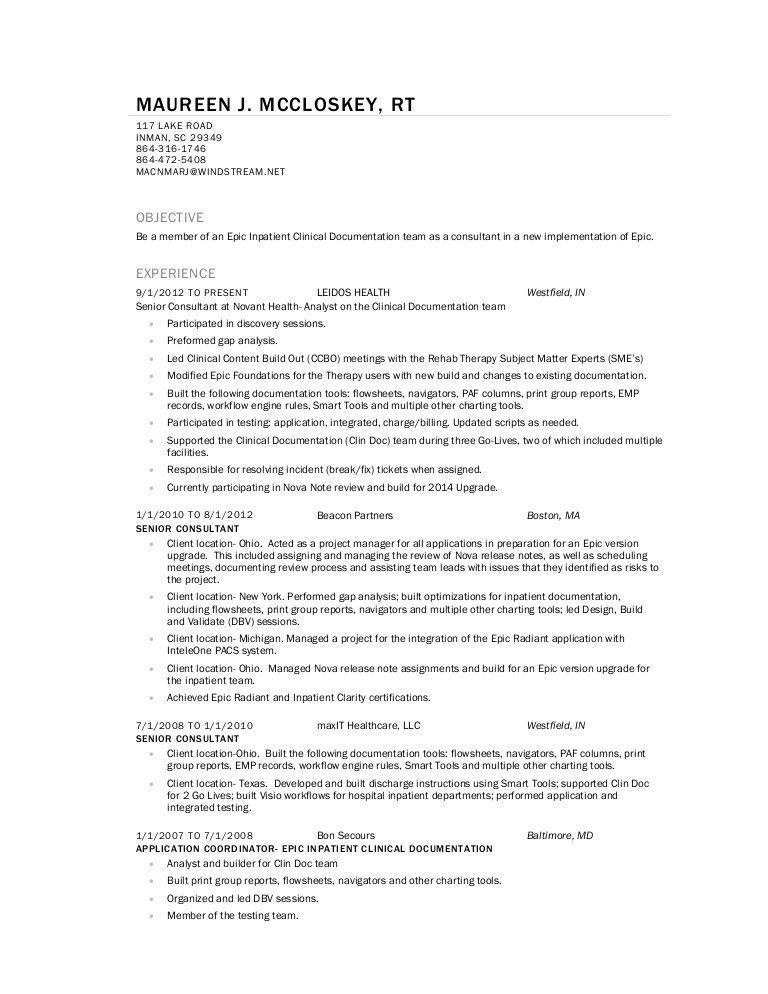 MMcCloskey Resume