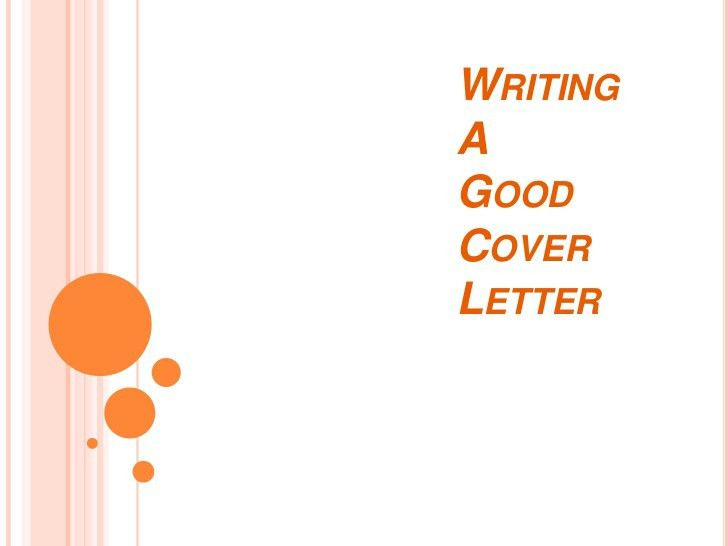 Writting A Good Cover Letter