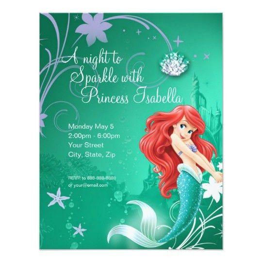 Little Mermaid Invitations & Announcements | Zazzle