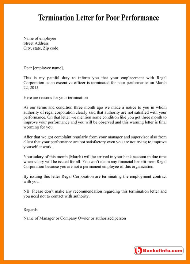 3+ warning letter to employee for poor performance   park-attendant