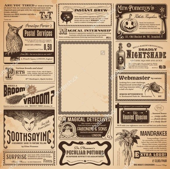 15+ Newspaper Ad Templates – Free Sample, Example, Format Download ...