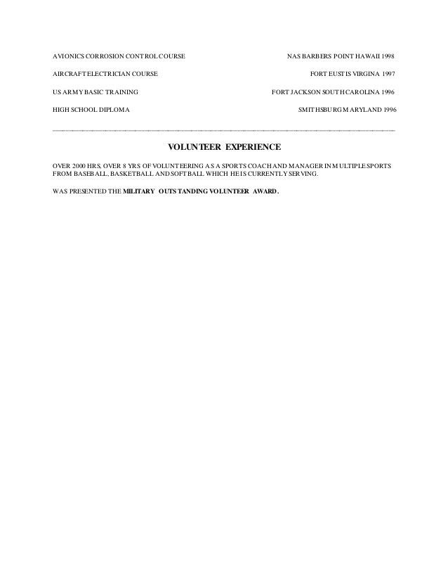 AVIATION MAINTENANCE TECHNICIAN RESUME DELZER