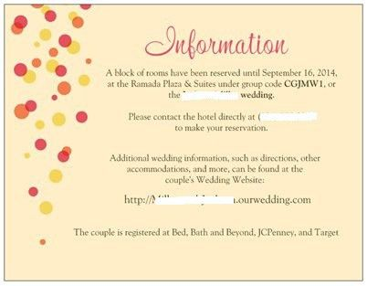 Wedding Information Card. Wedding Cards. Wedding Ideas And ...