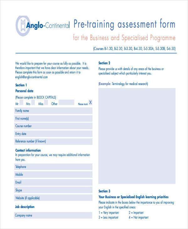 19+ Needs Assessment Form Templates | Free & Premium Templates