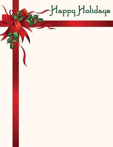 Holiday Letterhead | free printable letterhead