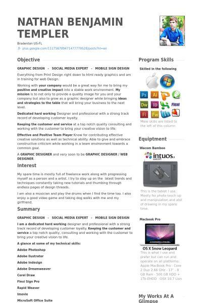 Freelancer Resume samples - VisualCV resume samples database
