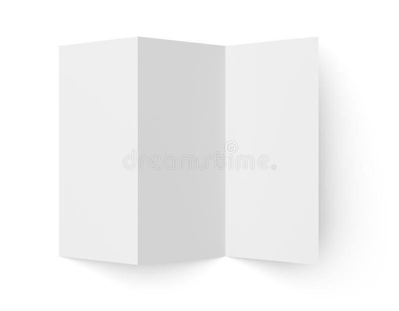 Leaflet Blank Tri-fold White Paper Brochure Stock Illustration ...