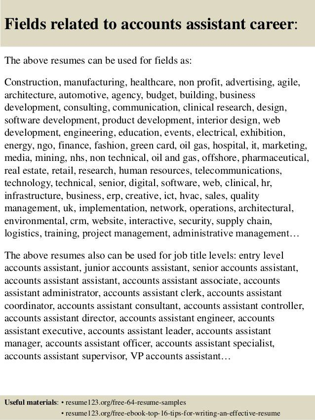 Top 8 accounts assistant resume samples