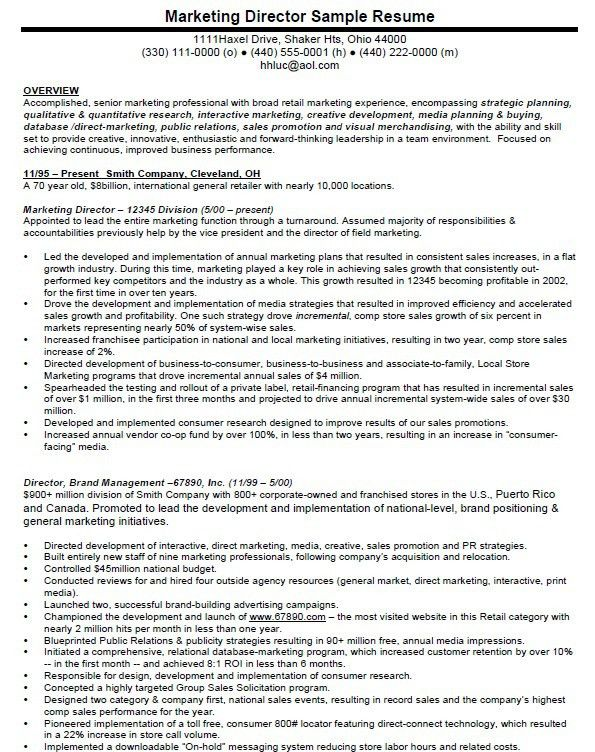 Vp Marketing Resume - cv01.billybullock.us
