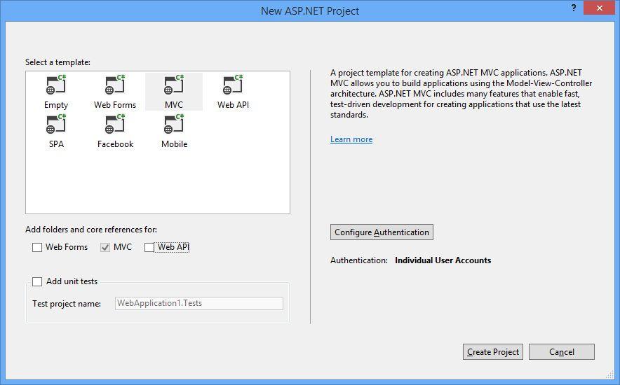 New way of creating web applications on Visual Studio 2013 ...