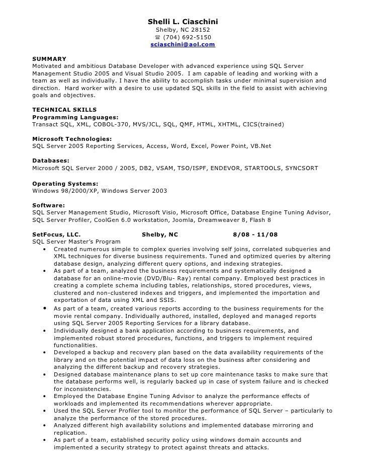 Sample Resume Oracle Dba 3 Years Experience - Contegri.com