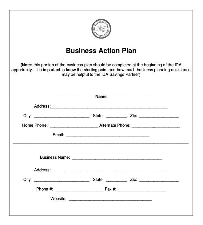 Sample Business Action Plan - 5+ Documents in PDF