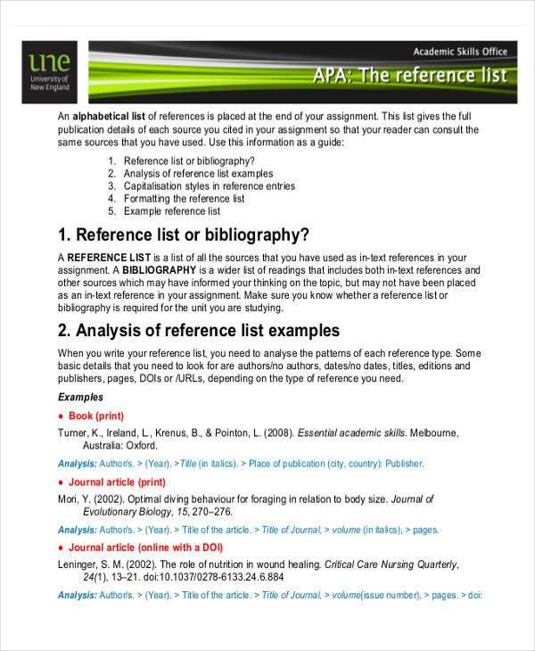 Professional Reference List Sample - 7+ Examples in Word, PDF