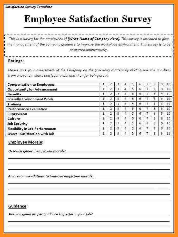 Employee Satisfaction Survey Templates – 4 Free Word Documents ...