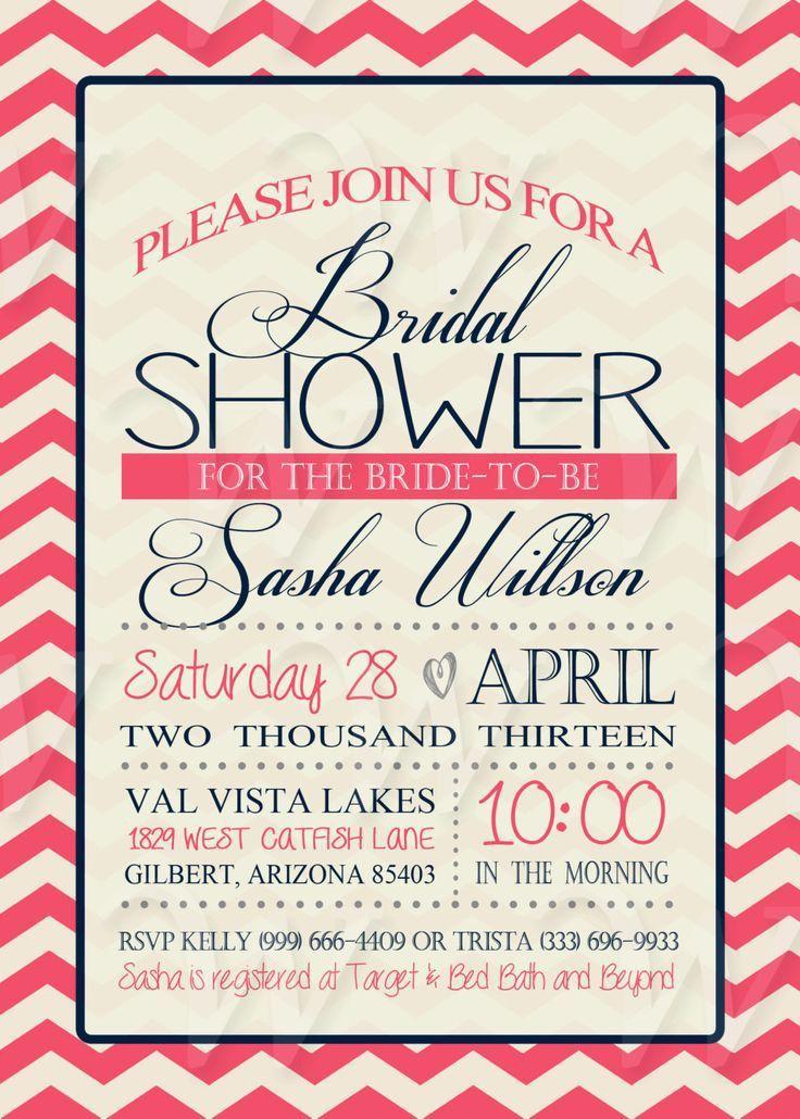 59 best Bridal Shower Invites images on Pinterest | Bridal shower ...