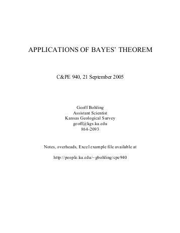 Bayes Theorem and the Theorem of Total Probability