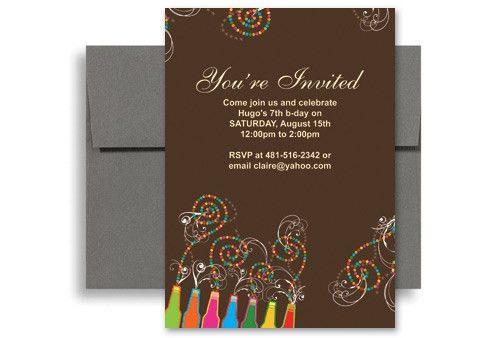 Diy Do It Yourself Blank Birthday Invitation 5x7 in. Vertical ...