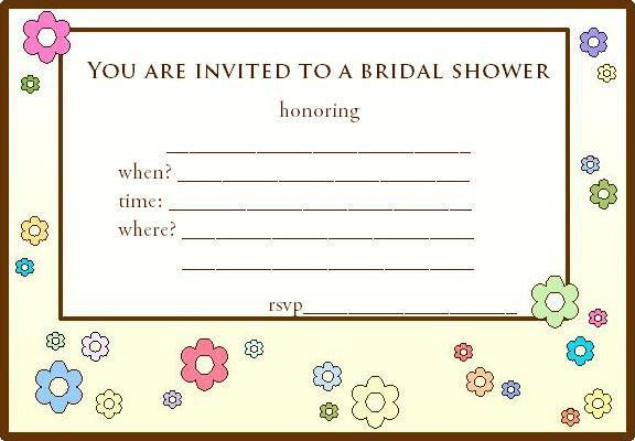Free Printable Wedding Shower Invitations at invitations-and-more.com