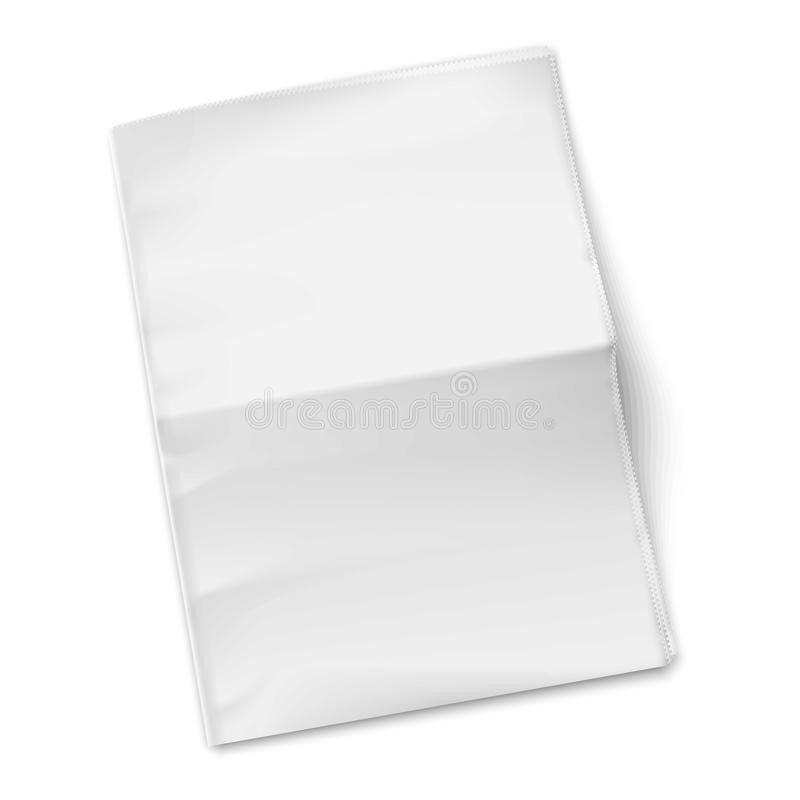 Blank Newspaper Template On White Background. Royalty Free Stock ...